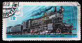 USSR - CIRCA 1979: A stamp printed in USSR shows Commodity steam locomotive of type 2-3-1 series Lp 1915 year, stamp from series, circa 1979 — Stock Photo
