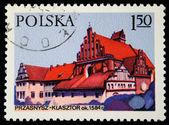 POLAND - CIRCA 1970s: A stamp printed in the Poland shows Przasnysz Monastery, circa 1970s — ストック写真