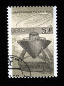 USSR - CIRCA 1987: A stamp printed by the USSR shows radiotelescope RATAN-800, circa 1987 — Zdjęcie stockowe