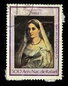 "CUBA - CIRCA 1983: Stamp printed in Cuba shows Rafael ""The veiled girl"", circa 1983 — Stock Photo"