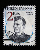 CZECHOSLOVAKIA - CIRCA 1984: A Stamp printed in Czechoslovakia shows Rudolf Jasiok, circa 1984 — Stock Photo