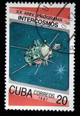 CUBA - CIRCA 1987: A Stamp printed in Cuba shows Satilite, circa 1987 — Stock Photo