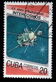 CUBA - CIRCA 1987: A Stamp printed in Cuba shows Satilite, circa 1987 — Stockfoto