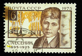 USSR - CIRCA 1975 : Stamp printed in the USSR shows Sergey Alexandrovich Esenin - the great Russian poet, circa 1975 — Stock Photo