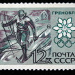RUSSIA - CIRCA 1967: stamp printed by Russia, shows Long distance skiing, circa 1967. — ストック写真