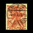 POLAND - CIRCA 1952: A stamp printed in Poland shows soldiers with rifles in their hands, circa 1952 — Stock Photo