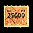 POLAND - CIRCA 1936: A stamp printed in Poland shows sower, circa 1936 — Stock Photo