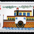 Stock Photo: BULGARI- CIRC1988: stamp printed in Bulgarishows steamship, circ1988