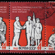 Royalty-Free Stock Photo: USSR -CIRCA 1963: The Soviet postage-stamp. Three Soviet stamps with the image of , circa 1963.