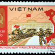 VIETNAM - CIRCA 1980: A stamp printed in Vietnam shows Ho Chi Minh, series, circa 1980 — Stock Photo #12170469