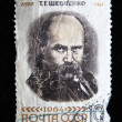 USSR - CIRCA 1964 stamp printed in USSR shows Shevchenko portrait (Ukrainian poet) with inscription T.G. Shevchenko, 1814-1861 , series 150th anniversary of Taras Shevchenko birthday, circa 1964 — Stock Photo