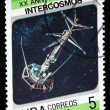 CUBA - CIRCA 1987: stamp printed by Cuba, shows Soviet space program Intercosmos, circa 1987. — Stock Photo