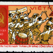 VIETNAM - CIRCA 1980: A stamp printed in Vietnam shows Ho Chi Minh, series, circa 1980 — Stock Photo #12170496