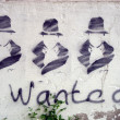 Wanted graffity — Stock Photo