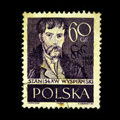 POLAND - CIRCA 1930s: A stamp printed in Poland shows Stanislaw Wysianski, circa 1930s — Stock Photo