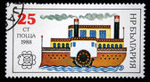 BULGARIA - CIRCA 1988: A stamp printed in Bulgaria shows steamship, circa 1988 — Stock Photo