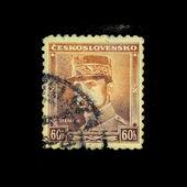 CZECHOSLOVAKIA - CIRCA 1918: A Stamp printed in Czechoslovakia shows Stefanik, circa 1918 — Stock Photo