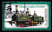 GDR - CIRCA 1965: A Stamp printed in the GDR shows the steam locomotive, circa 1965 — Stock Photo