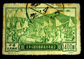CHINA - CIRCA 1951: A stamp printed in China shows Taiping Rebellion 1851-1854, circa 1951 — Stok fotoğraf