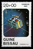 GUINEA-BISSAU - CIRCA 1983: A stamp printed in Guinea-Bissau shows Space Communication, circa 1983 — Stock Photo