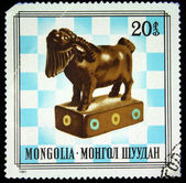MONGOLIA - CIRCA 1981: stamp printed by Mongolia, shows Camel (bishop), circa 1981 — Stock fotografie