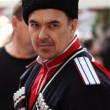 Kuban Cossack in clothing of the late 19th century — Stock Photo