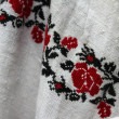 Stock Photo: Ukraininational embroidery on sleeve of woman's dress