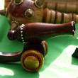 Wooden cannon toy - Stock Photo