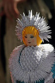 Toy made of paper - Snow Maiden — Stock Photo