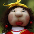 Handmade doll - matchmaker - Stock Photo