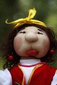 Handmade doll - matchmaker — Stock Photo