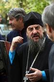 Ortodoks rahip speack don kazak ile — Stok fotoğraf