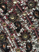 Detail beadwork with oriental pattern — Stock Photo