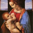 Stock Photo: Leonardo dVinci, 1452 - 1519, Madonnand Child, circ1490 -