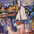 Stock Photo: Maurice de Vlaminck, 1876 - 1958, View of the Seine, 1905 - 6