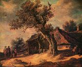 Jan van Goyen, 1596 - 1656, Landscape with Oak, 1634 — Stock Photo