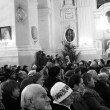 Festive Christmas service at the Cathedral of Peter and Paul, Lu — Stock Photo