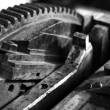 Gear in a printing press - Stock Photo