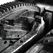 Stock Photo: Gear in printing press