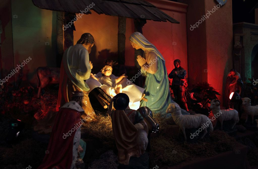 Christmas, nativity scene, Jesus Christ, Mary and Josef  — Stock Photo #18101219