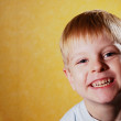 Happy joyful beautiful little boy — Stock Photo