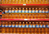 Bottle of sunflower oil Oleyna — Stock Photo