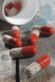 Pills on table — Stock Photo