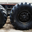 Stock Photo: Tandem Rear Axle