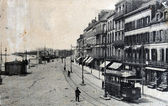 Tram on Quai Gambetta, Boulogne-sur-Mer, France, 1900s — Stock Photo