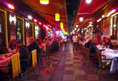 Restaurant at night, Istanbul, Turkey — Stock Photo