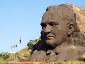 Giant mask of Ataturk — Stock Photo
