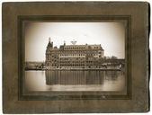Cardboard photo frame — Stock Photo