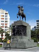 Monument Atataturk on horse — Stock Photo