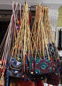 Handbags display — Stock Photo